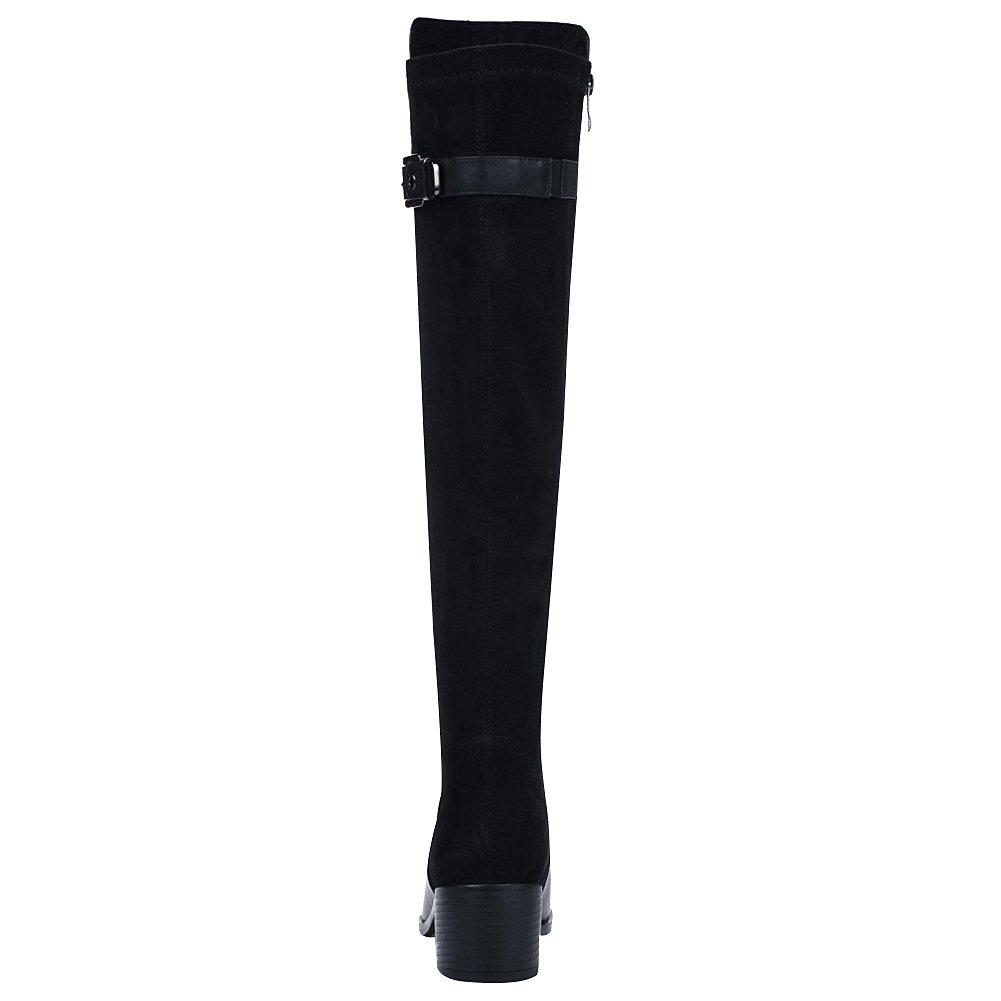 Rismart Damen Über Dem Knie Hoch Reißverschluss Reißverschluss Reißverschluss Winter Stilvoll Leder Stiefel b5b0fe
