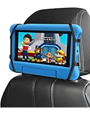 Car Headrest Holder, Kids Tablet ipad Holder for Car Back Seat, Car Headrest Mount Silicon Holder for All 7-12.9 Inch Fire Tablets
