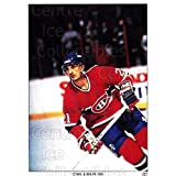 Guy Carbonneau Hockey Card 1991 Montreal Canadiens Panini Team Stickers #2 Guy Carbonneau