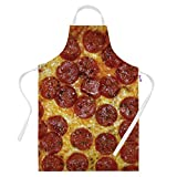 Funny Aprons for Men Pepperoni Pizza BBQ Cooking Apron Kitchen Gift