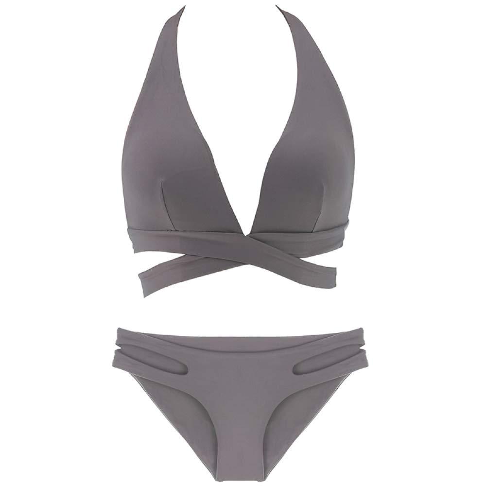PQW Bikinis, Sexy Durchbrochene Durchbrochene Durchbrochene Träger hängen Badeanzug Anzug B07NRCCWB6 Bikini-Sets Wertvolle Boutique 1c9c35