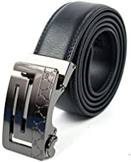 GetLoveToy Men's Comfort Genuine Leather Ratchet Dress Belt for Men with Automatic Click Buckle, 120cm Len