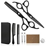 Hair Cutting Scissors Professional Home Haircutting Barber Salon Thinning Shears Kit 6CR 660C stainless steel with Comb and Case for Men/Women