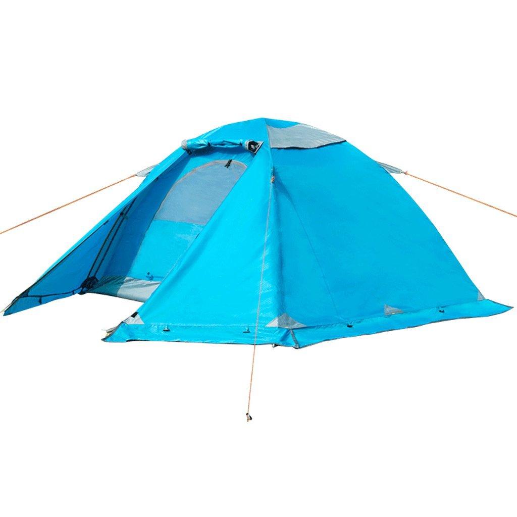 QAR Outdoor-Zelt Camping Doppel-Doppel-Aluminium-Stab Vier Regen Jahreszeiten Konto Regen Vier Schnee Schnee Rock Wandern Camping Paar Zelt 42b4c0