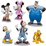 Disney Exclusive 6 Piece Pvc Figurine Set Mickeys Car Wash Mickey, Minnie, Donald, Goofy, Pluto Pete