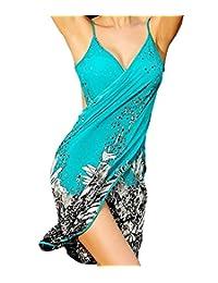 Dovia Women's Deep V Neck Beachwear Ice Silk Bikini Cover up