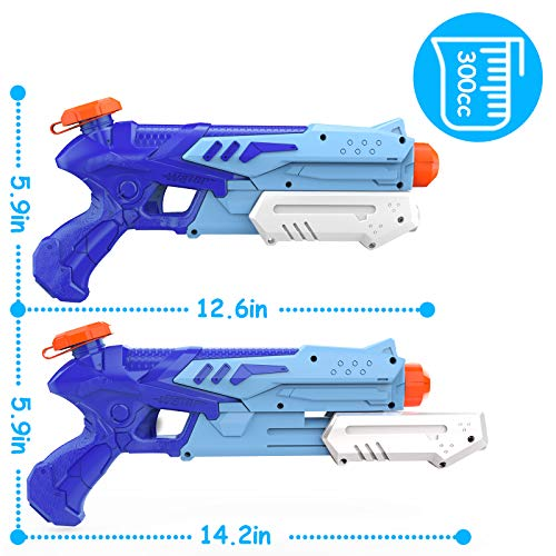 Kiztoys Children\'S Water Gun 2 Pieces, Powerful Water Gun, Suitable for Adults and Boys Blaster Toys for Playing in Outdoor Swimming Pools, Beaches, Boys and Girls