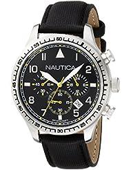 Nautica Mens A16577G BFD 105 Chrono Analog Display Analog Quartz Black Watch