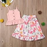 Toddler Baby Girls Camisole Buttons Shirt Top