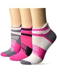ASICS Women's Quick Lyte Cushion Single Tab Running Socks (3 Pack)
