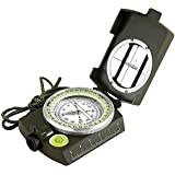Eyeskey Multifunctional Military Lensatic Tactical Compass | Impact Resistant and Waterproof |Metal Sighting Navigation Compasses for Hiking, Camping, Motoring, Boating, Boy Scout
