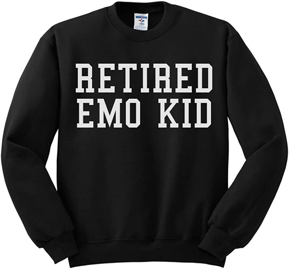 Retired Emo Kid Funny Pop Culture Sweatshirt Unisex