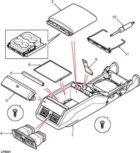 Amazon Com Land Rover Range Rover P38 Center Console Cubby Box Lid