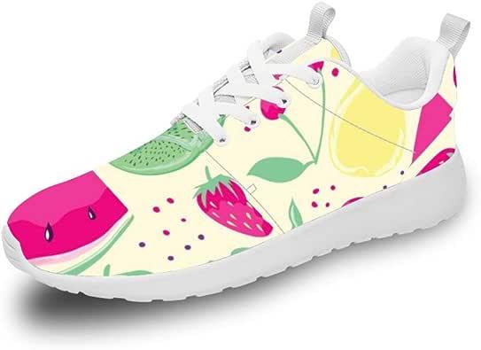 Mesllings Unisex Zapatillas de Running Acuarela Fruits (2) Zapatos ...