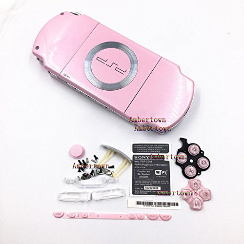 NEW Replacement Sony PSP 2000 2001 2002 2003 2004 Series Console Full Housing Shell Cover With Button Set - (Pink Psp Console)