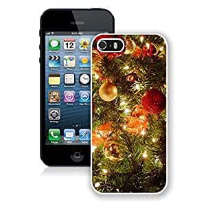 Iphone 5s Case,Christmas Tree Decoration Jingling Bell White Case For Iphone 5 5S Protective Case