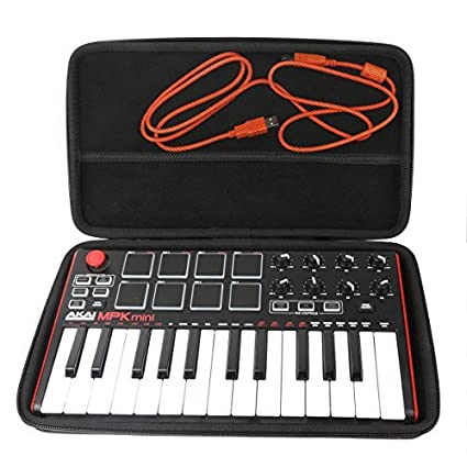 Khanka Hard Travel Case Replacement for Akai Professional MPK Mini MKII  25-Key USB MIDI Controller (1)