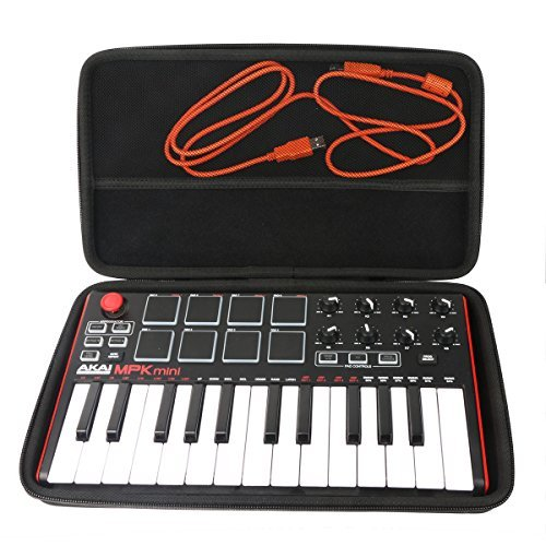 Khanka Hard Case for Akai Professional MPK Mini MKII 25-Key USB MIDI Controller