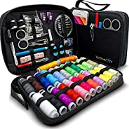 VelloStar Sewing KIT for Adults - Over 100 Easy to Use Sewing Supplies & 24-Color Threads, a Needle and Th