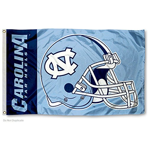 UNC Tar Heels Large Football Helmet 3x5 College Flag (Unc Football Helmet compare prices)