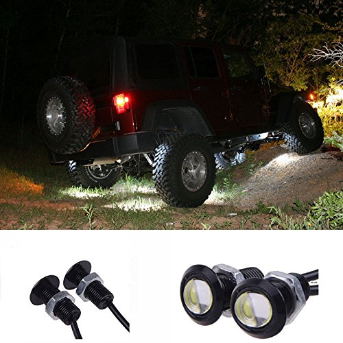 Price comparison product image YUK 10x Eagle Eye DRL LED Rock Lights For JEEP ATV Off Road Truck Under Trail Rig Lights (White)