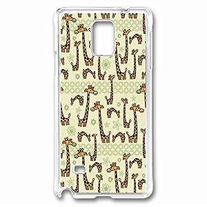 Giraffe Custom Back Phone Case for Samsung Galaxy Note 4 PC Material Transparent -1210150