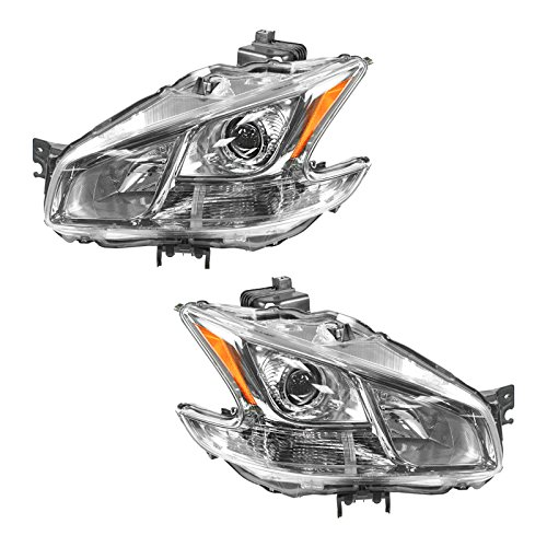 - Halogen Headlight Headlamp LH Left & RH Right Pair Set for 09-13 Nissan Maxima