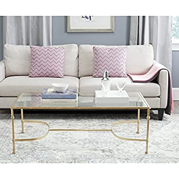 Safavieh Home Collection Lucille Gold Coffee Table Part 85