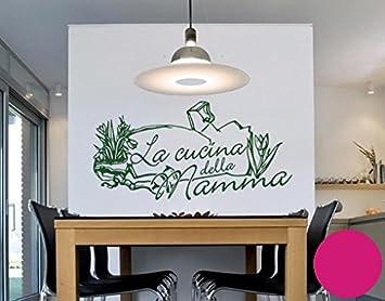 Wall Tattoo 2606 Wall Sticker Cucina Della Mamma, Plastic, Pink ...