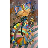 MOTOCO DIY Diamond Art of 5D Diamond Embroidery Animals Diamond Painting(A:Cartoon Cat)