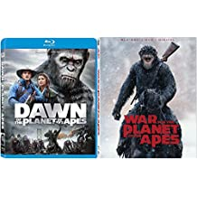 Planet of The Apes Double Feature War For The Planet Of The Apes & Dawn Blu Ray + DVD Science Fiction 2 pack