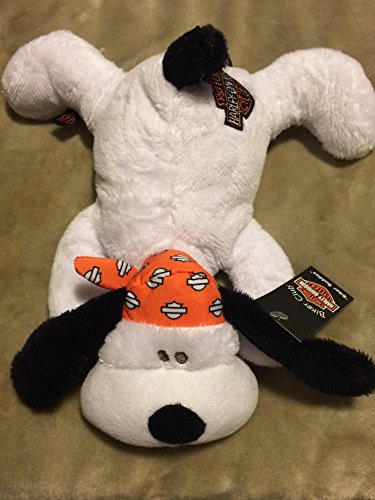 Kids Preferred Harley-Davidson Biker Buddies Plush White Black Puppy Dog with Bandana