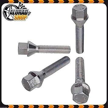 Haskyy 10 Radschrauben Radbolzen Silber verzinkt Kegelbund Kegel M12x1,5 in verschiedenen Schaftl/ängen zur Auswahl 54mm