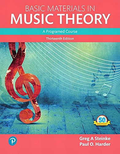Basic Materials in Music Theory: A Programed Course, Books a la Carte (13th Edition) (What's New in Music)