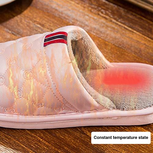 Antiscivolo Sintetica Resistente Oro In E All'acqua Casa Pantofole Coppia Per Peluche Fodera Uomo Scarpe Pelle Da Donna BzOwqgS