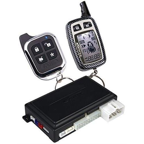 Astra Astra 4.2w 2-Way Remote Security & Engine-Start System with Keyless Entry, 1 LCD Chrome 5-Button 2-Way & 1 Sleek Chrome 5-Button 1-Way Remotes (AstraASTRA 4.2W )