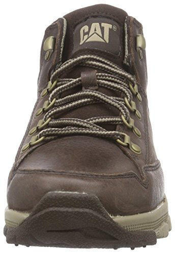 Larv Samverkar Mitten Mens Läder Boots Brown