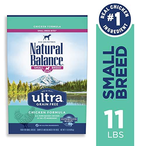 Natural Balance Original Ultra Grain Free Small Breed Bites Dog Food, Chicken Formula, 11-Pound Bag