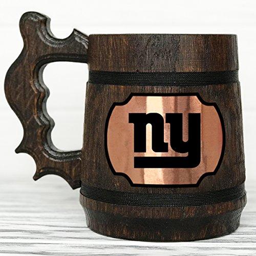 - New York Giants Mug. Personalized New York Giants Beer Mug. Sport Custom Beer Mug. Personalized Beer Mug. Wooden Beer Mug. Wooden Beer Tankard. Gift for Men. Football Fan Gifts #128 / 0.6L / 22 ounces