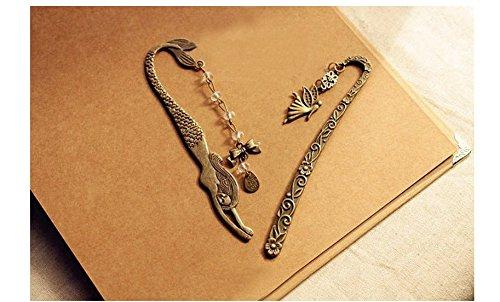 Tfxwerws Romanzo metallo chiave a forma di sirena Pendent segnalibro