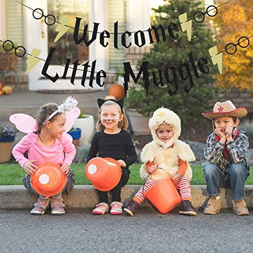 Welcome Baby Muggle Banner-Baby Shower Party Supplies,Welcome Little Muggle Banner,Baby Sign for Baby Shower Bridal Shower Party Supplies Decoration.