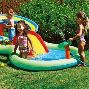 Chad Valley actividad piscina Play Centre.–eatures un aspersor, Slide y bolas de para mayor Amusemen