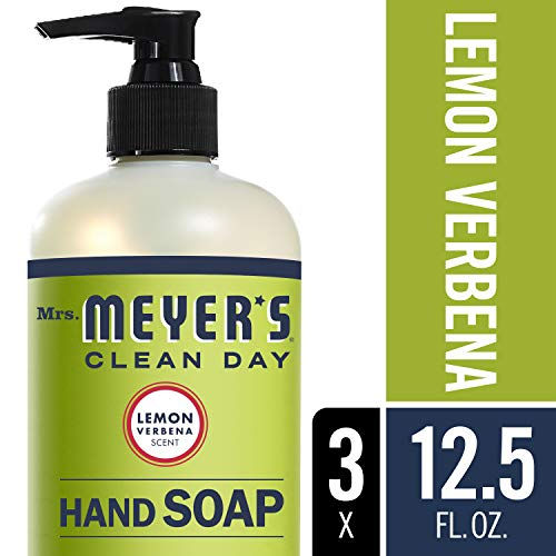 Mrs. Meyer´s Clean Day Hand Soap, Lemon Verbena, 12.5 fl oz, 3 (Ginger Soap Lotion Dispenser)