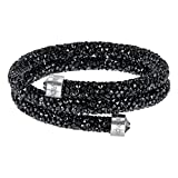 Swarovski Black Double Crystaldust Bangle