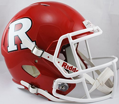 NCAA Rutgers Scarlet Knights Full Size Speed Replica Helmet, Red, Medium by Riddell