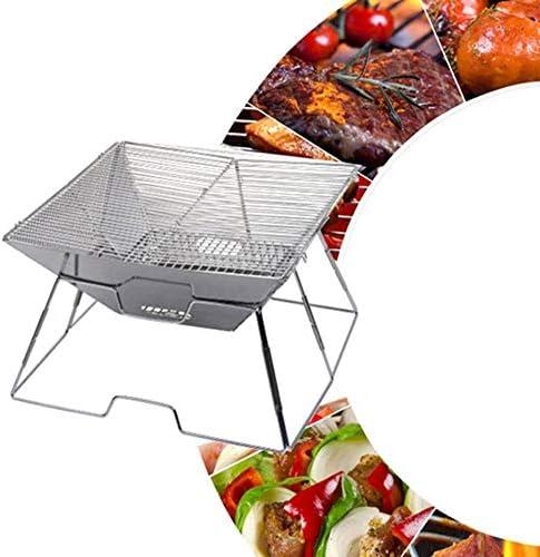 xunlei BBQ Barbecue in Acciaio Inossidabile per Barbecue Multifunzione Grill A Carbone Pieghevole Picnic Barbecue A Carbone per più Persone Tromba per Barbecue