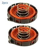 Dade Set of 2 Crankcase Vent Valve PCV Pressure Regulating Valve For BMW 11127547058 14506018001