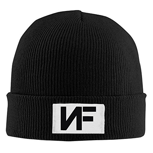 Adult NF Rapper Black Knitted Beanies Skull Caps Winter Caps]()