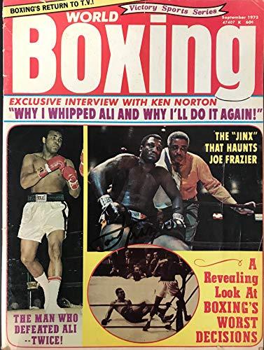 Joe Frazier Signed World Boxing Magazine September 1973 ()