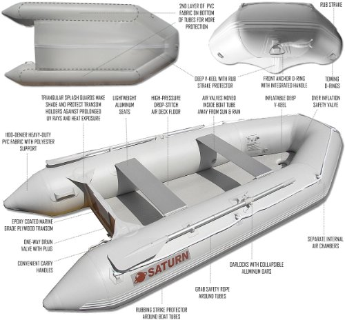 Saturn 11 ft Inflatable Boat Dinghy Raft Tender
